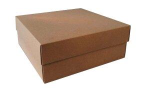 KRAFT BOX  25,5x25x10cm
